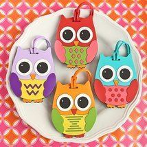 Owl Design Luggage Tags: Four Assorted 24 piece display box - 72 count - $181.12