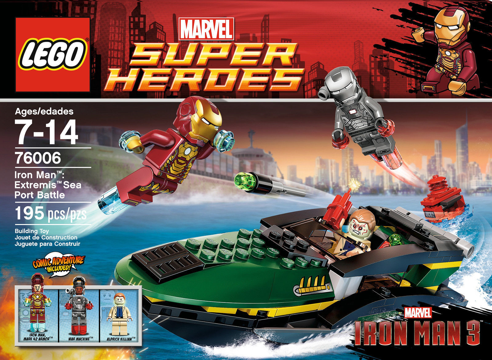 LEGO Super Heroes Iron Man Extremis Sea Port Battle 76006 Building Set [New]