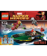 LEGO Super Heroes Iron Man Extremis Sea Port Battle 76006 Building Set [... - $48.98