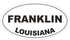 Franklin Louisiana Oval Bumper Sticker or Helmet Sticker D3920 - $1.39+