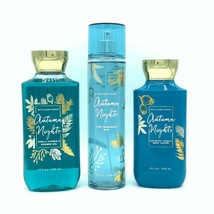Bath & Body Works Autumn Nights Mist, Body Lotion, and Shower Gel 3-Piec... - $33.32