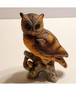 Vintage Owl figurine sculpture brown - $12.00