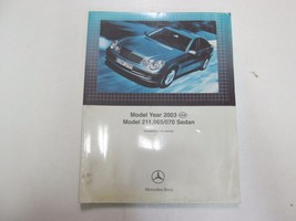2003 Mercedes Benz Model 211.065/070 Sedan INTRO into Service Manual STA... - $29.69