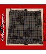 Motherhood XL Maternity Business Skirt Blue Gray Black Velvet Roses - $29.69