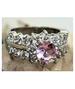 Pink Sapphire Topaz Ring Size 8 - $27.99