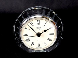 Mikasa Crystal Clock, Seashell Pattern, Quartz Battery Operated, Made In Germany - $29.35