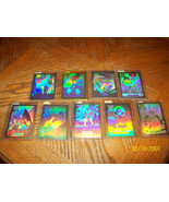 DC COSMIC CARDS LOT OF 9 HOLOGRAMS #1,3-10 - $23.00