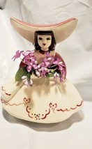 Figurine Garden Girl Golddammer Ceramics San Francisco Vintage Mid Centu... - $29.65