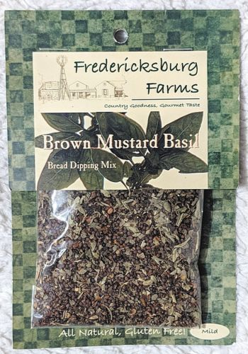 Fredericksburg Farms All Natural Brown Mustard Basil Bread Dipping Mix