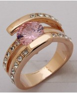 Cubic Zirconia 10KT Yellow Gold Filled Ring - Size 7 - $27.99