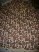 CHIC VINTAGE ITALIAN WOVEN TAPESTRY BEDSPREAD SHAMS NOT USED SHABBY 60s ... - $90.24