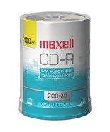 Maxell 648200 - CDR80100S 700MB 80-Minute CD-Rs (100-ct Spindle) - $50.51