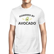 Powered By Avocado Men's White Trendy Design Graphic Tee For Guys - $14.99+
