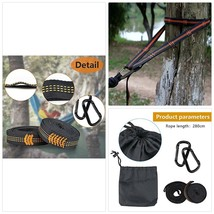 Mystery Outdoor Hammock Straps, Adjustable 280cm Long, Tree Straps 100% ... - $28.39