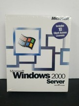 100% Genuine: Microsoft Windows 2000 Server 10 CAL Retail Box NEW - $261.80
