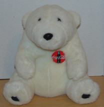 "Coca Cola Vintage 1993 Polar Bear Coca Cola Emblem-11"" Sitting-10"" Wide ... - $19.99"