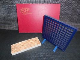 Old Vtg 1970 SCRABBLE R.S.V.P. Three Dimensional CROSSEDWORD GAME Wood C... - $19.79