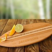 Engraved Surfboard Bamboo Cutting Board Engraved Gifts Personalized Gifts - $35.23
