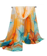 Soft Thin Chiffon Women Flowers printed Scarf - €9,62 EUR
