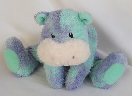 Baby Gund Speckles Green & Lavender Plush Hippo #5824 - $29.95