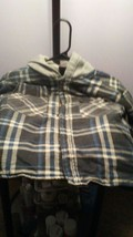 FADED GLORY FLEECE LINED HOODIE BOYS SMALL 8 BUTTON FRONT~PRE-OWNED~ - $3.99