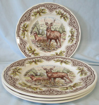 Royal Stafford Stag Deer Dinner Plate, Set of 4 - $69.19