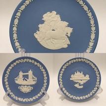 Lot of 3 Wedgwood Jasperware Plates - 2  Christmas and 1 Royal Mint Clas... - $45.00