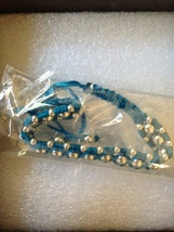 SKY BLUE BAND METALLIC BASE METAL BRACELET - $19.99