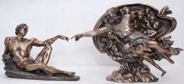 Michelangelo's Creation Adam and God Bronze Sculpture * Free Shipping Everywhere - $157.41