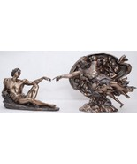 Michelangelo's Creation Adam and God Bronze Sculpture * Free Shipping Ev... - $157.41