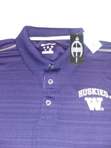 Mens NCAA Washington Huskies Polo Shirt, Team Colors, Lg - $29.69