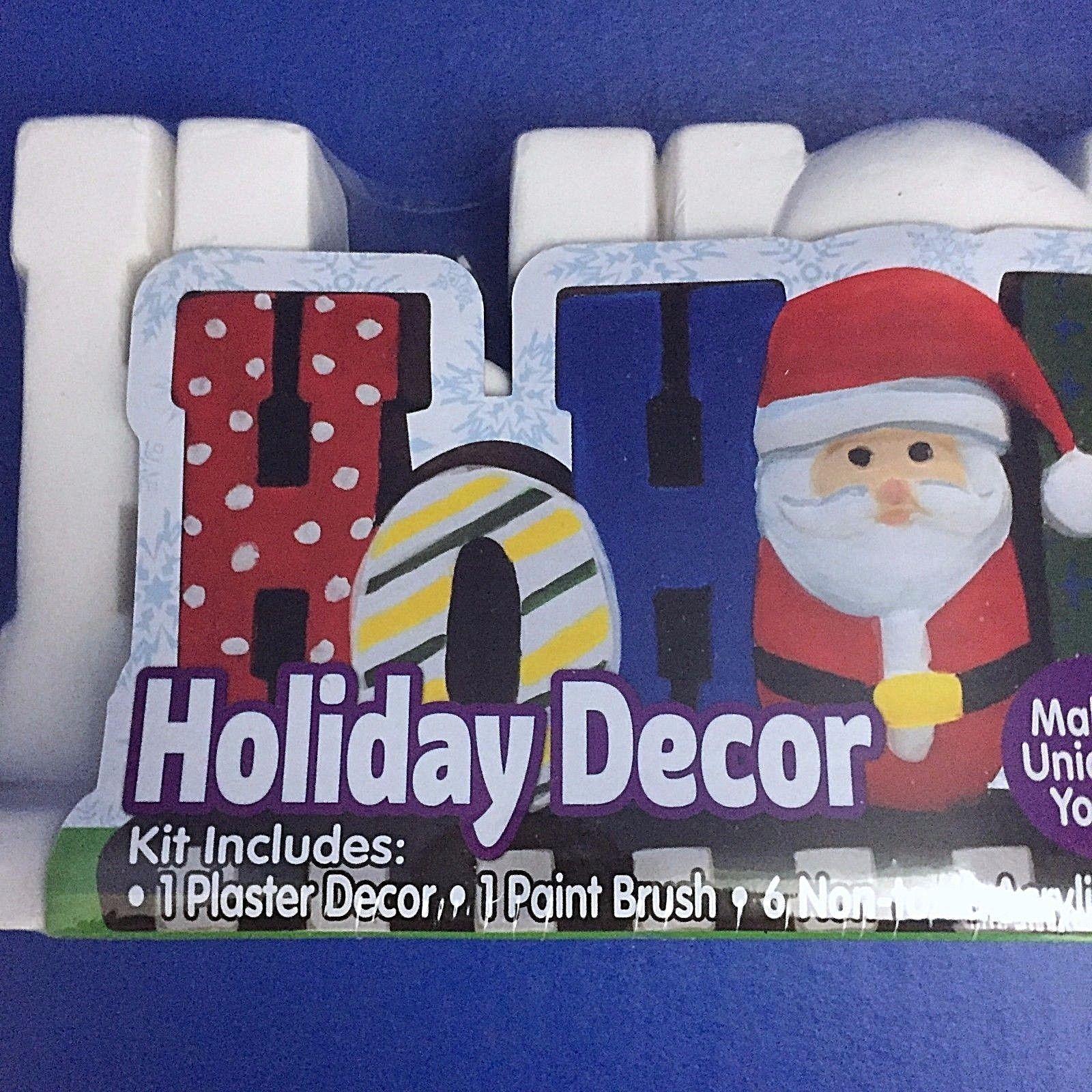 ec33e5c493e7b Santa Ho Ho Ho Holiday Plaster Decor Acrylic Paint Kids Childrens Craft  Ages 6+
