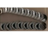 Stretch metal silver tone shell belt front thumb155 crop