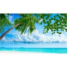 Beach Photo Tile Murals BZ30011. Kitchen Backsplash Bathroom Shower Wall Murals - $150.00+