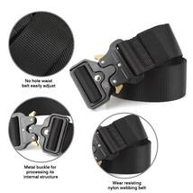 Tactical Belt Adjustable Heavy Duty Belt, Military Style Nylon Green - $9.99