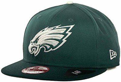 307cdbeacf5 Philadelphia Eagles Leather Strapper New Era 9Fifty Strapback Cap Hat S M  NEW