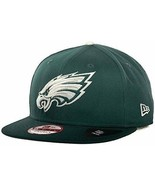 Philadelphia Eagles Leather Strapper New Era 9Fifty Strapback Cap Hat S/... - $594,22 MXN