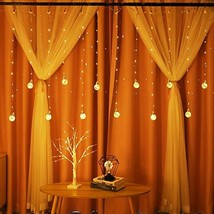 Obrecis Edison Style Bulb Hanging Twinkle Star 138 LED Curtain Light 8 M... - $20.98