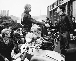 Dudley Sutton And Colin Campbell In The Leather Boys Outside Ace Cafe With Trium - $69.99