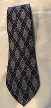 George Machado Zylos Men's Neck Tie 100% Italian Silk 61 in Made in USA blue red - $8.79