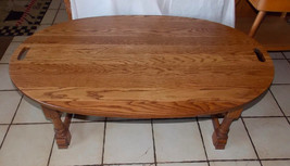 Solid Oak Oval Coffee Table  (CT152) - $499.00