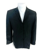 Banana Republic Women's Coat Blazer Shoulder Pads Black Button Up Collar... - $23.33