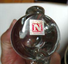 "VINTAGE Napcoware Studio Art Glass OWL  3.75""  image 4"