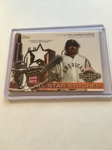 2004 TOPPS SERIES 1 EDDIE GUARDADO AUTHENTIC ALL STAR JERSEY PATCH CARD ... - $1.99