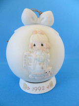 Precious Moments Ornament 1992 But the Greatest of These is Love - $5.89