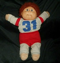 Vintage Cabbage Patch Kids Baby Doll Boy Brown Hair Stuffed Animal Plush Toy D - $32.73