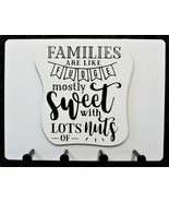"""Wall Mounted Keychain Holder Rack with - """"Families are like Fudge...of n... - $18.95"""