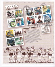 CELEBRATE THE CENTURY 1920's FULL SHEET FIRST DAY OF ISSUE 1998  - $8.58