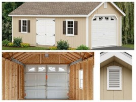 Garage Man Cave She Shed Workshop Storage Shed - Pre-Cut and Pre-Drilled... - $7,783.34