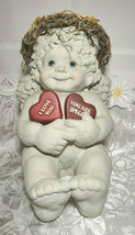 Large Vintage 1994 Dreamsicles Cherub Signed by Kristin HandCrafted Cast Art